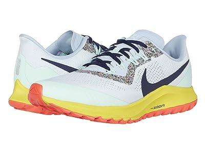 Nike Air Zoom Pegasus 36 Trail (Aura/Blackened Blue/Light Armory Blue) Women
