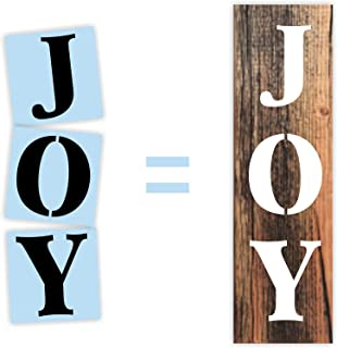 Christmas Joy Porch Sign Stencil, Paint Your Own Wood Sign, Reusable & Thick, by Barn Star
