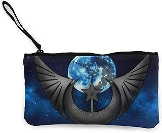Art Flags The New Lunar Republic Flag Womens Canvas Portamonete Mini Change Wallet Make Up Bag, Borsa per cellulare con manico Wallet Bag Borsa per il Cambio