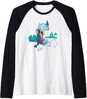 Disney Raya and the Last Dragon Watercolor Manche Raglan