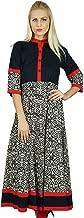 Bimba Women Dress Classic A Line Cotton Kurti Anarkali Long Blouse Top