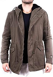 Barone | parka da uomo invernale, giaccone impermeabile, giacca per inverno, giubbotto lungo, giubbino con pelliccia ecolo...