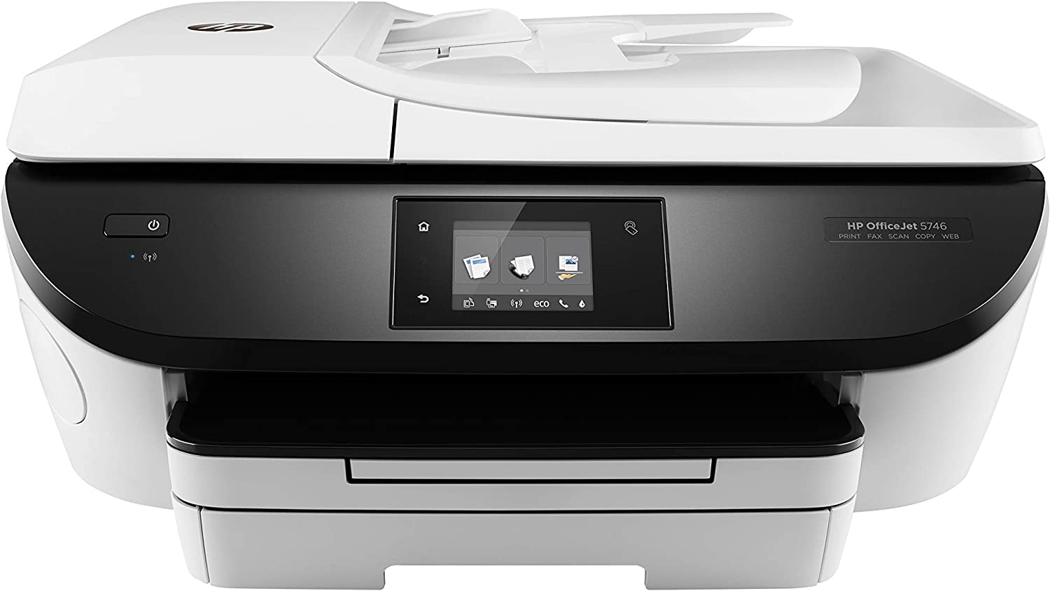 HP OfficeJet 5746 All-in-One Printer, White (Refurbished)