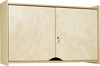 Steffy Wood Products Locking Wall Storage Cabinet