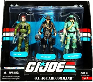 G.I. Joe 25th Anniversary: Air Command Exclusive Boxed Set of 3 Action Figures: Wild Bill, Captain Ace & Skyduster