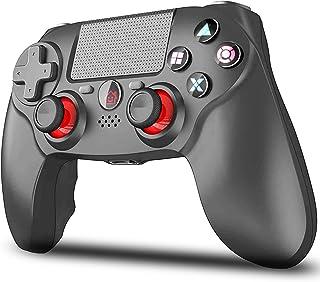 【2021最新FPS改良型】VOVAQI PS4 コントローラー ワイヤレス 1000mAh大容量 最新バージョン ゲームパット Bluetooth リンク遅延なし イヤホンジャック ジャイロセンサー機能 タッチパット搭載 二重振動 高耐久ボタ...
