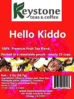 Hello Kiddo – Fruit Tea Blend – Kids Tea – Caffeine –Free – Hot and Iced Tea – Loose Leaf Fruity Blend– 57g(2Oz) (2 Oz)