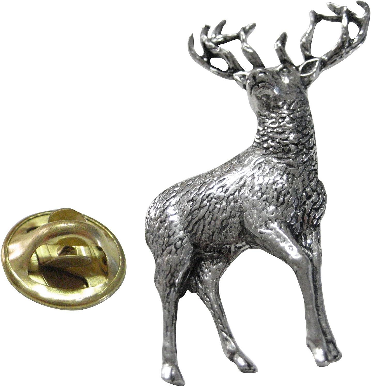 Kiola Designs White Tailed Stag Deer Lapel Pin
