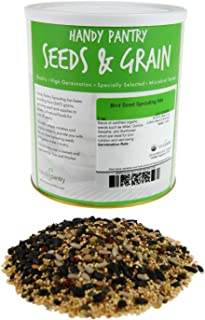 Handy Pantry Organic Birdseed - 5 Lb - Sprouting Bird Seed Mix for Small, Medium & Large Birds- Feed for Songbirds, Parakeets, Parrots, etc