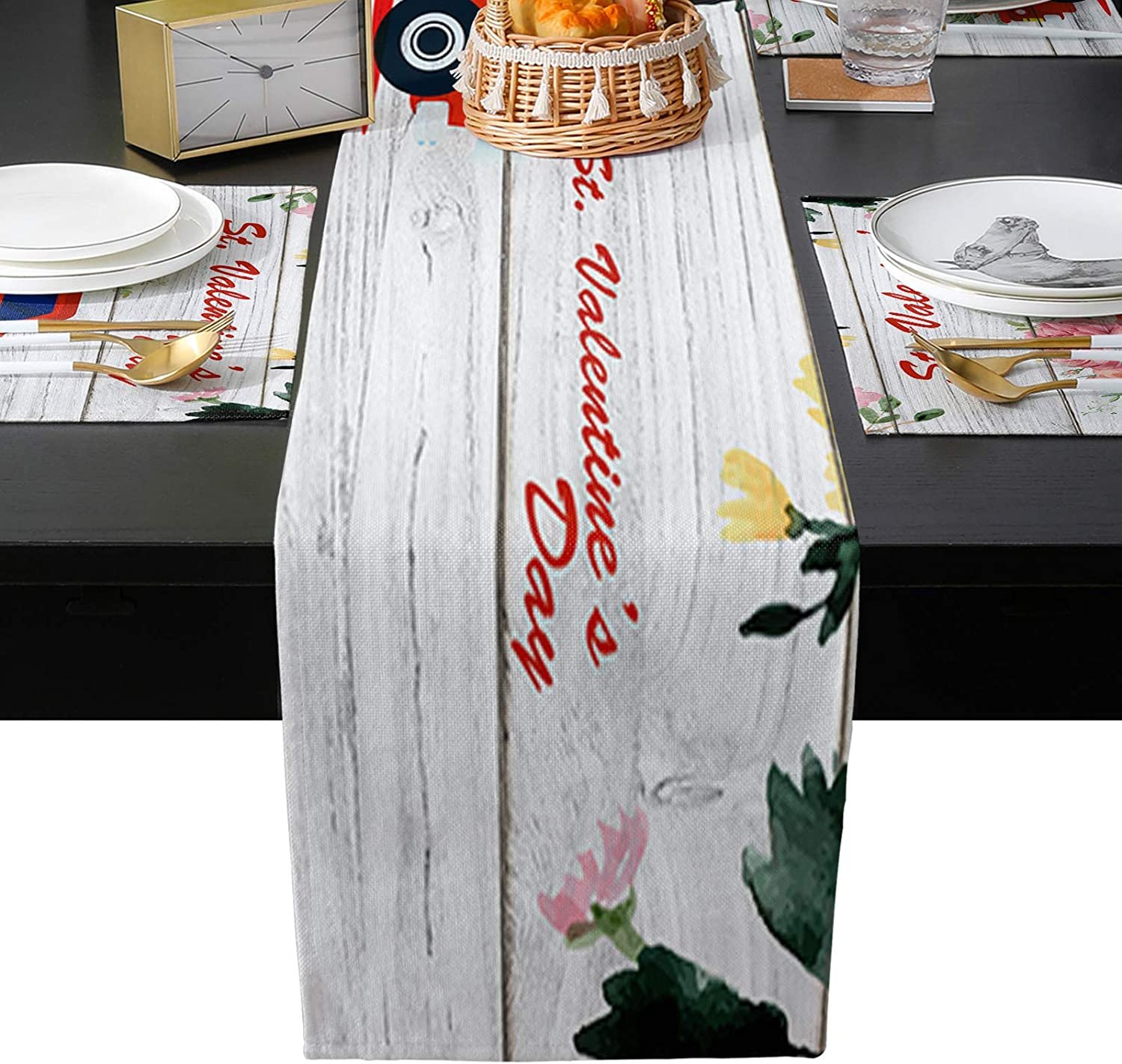 Al sold out. Table service Runner with Placemats Set of Truck Floral 6 Heat Resistant
