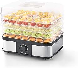 [Neu.Haus]®] Déshydrateur de Fruit et Légume avec 5 Plateaux réglable Food Dryer Plastique 32 x 25 x 30cm Noir