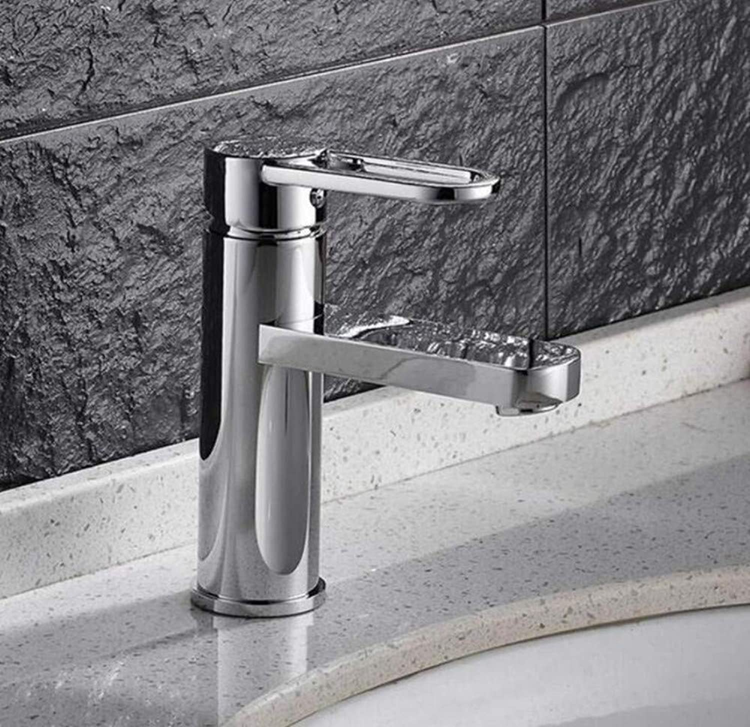 Brass Wall Faucet Chrome Brass Faucettap Chrome Single Lever Hot and Cold Bathroom Basin Sink Mixer