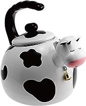 Supreme Housewares 71508 Cow Whistling Kettle, 2.5 quarts, White & Black