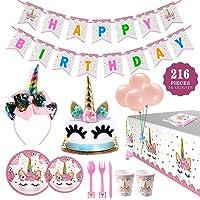 216-Piece Tomons Party Supplies Kit