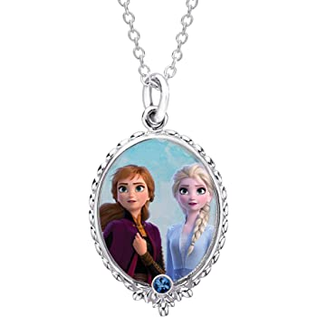 2 designs hand crafted a lovely gift Pretty Frozen Elsa /& Anna necklace,16/""