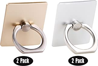 [4 Pack] Cell Phone Ring Holder Stand,CaseHQ Finger Grip Loop Mount 360 Degree Rotation Universal Smartphone Kickstand for iPhone X 8 7 7Plus Samsung Galaxy S9 S9 Plus S7 S8 LG Google (Gold+Silver)