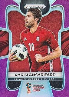 2018 Panini Prizm FIFA World Cup Soccer Prizms Purple #113 Karim Ansarifard 07/99 Iran