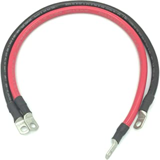IEWC 2 AWG Marine Grade Boat Battery Cables with 3/8 Lugs
