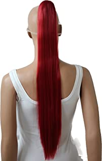 "PRETTYSHOP Hairpiece Ponytail Clip on Extension Long hair smooth Heat-Resisting 27"" red # 3100 H100"