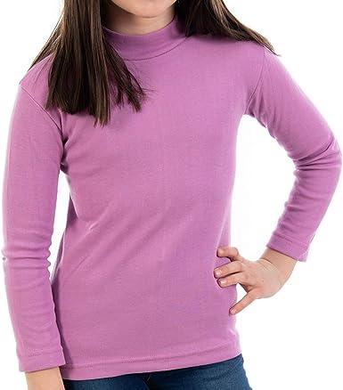 Pack de 2 semicisne Lacotex Infantil L127 de algodón, Manga Larga, Medio Cuello. Camiseta para niño y niña con Interior cálido. Fabricado en España ...