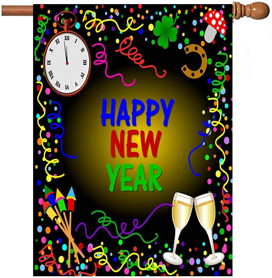 Winter Baltimore Mall Happy New Year Garden Yard Flag We OFFer at cheap prices House 28 40 inch x Banner