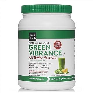 Vibrant Health, Green Vibrance, Plant-Based Superfood Powder, Vegan Friendly, 83 Servings