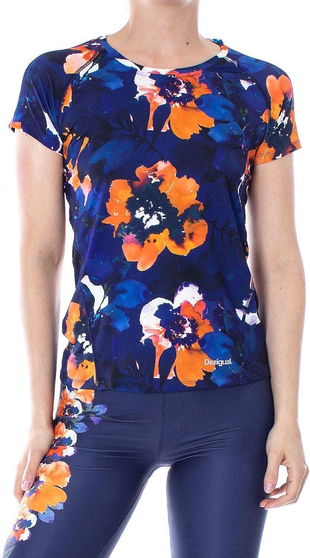 DESIGUAL Women's 19SOTK07blueeE blueee Polyester T-Shirt