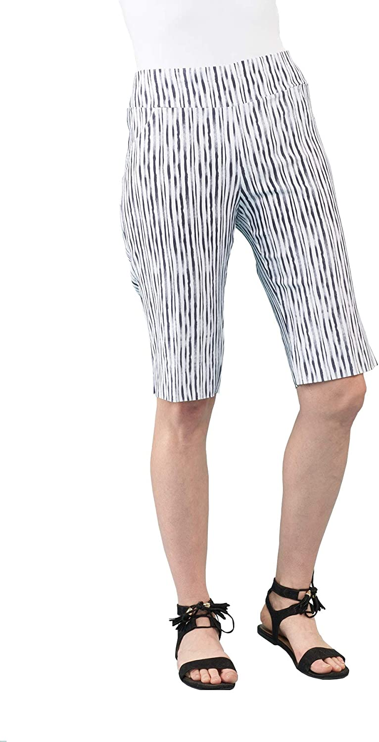 Lena Gabrielle Our shop OFFers the best service Women's Spring Stretch Str Special Campaign Pull On Shorts-Reverse