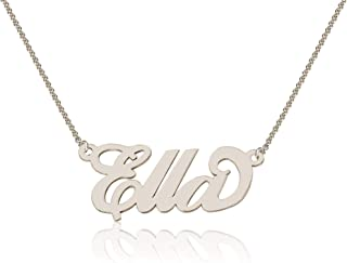 Personalized Ella Name Necklace, Custom made in stock, Sterling Silver