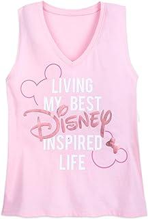 Disney Logo Tank Top for Women Pink
