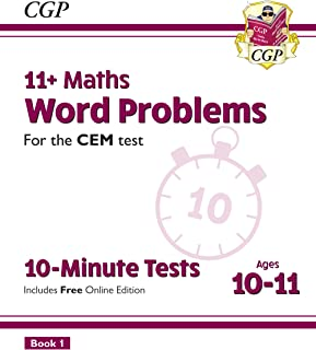 New 11+ CEM 10-Minute Tests: Maths Word Problems - Ages 10-11 Book 1 (with Online Edition) (CGP 11+ CEM)