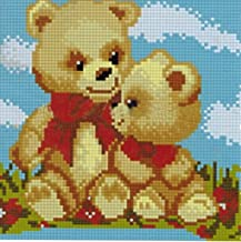 Imagine Micromosaics Full Square Drill 20 x 20 cm Mounted Diamond Painting Teddy Bears