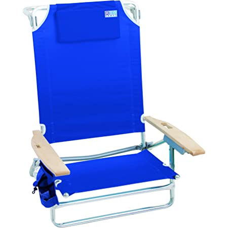 Rio Gear Beach Big Kahuna 5 Position Extra Large Folding Beach Chair Blue 9 5 Sports Outdoors