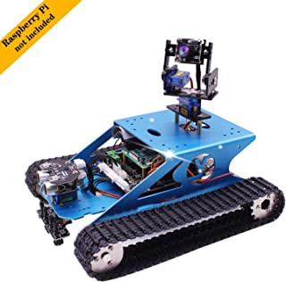 Yahboom Professional Raspberry Pi Tank Smart Robot Kit WiFi Wireless Video Programming Electronic DIY Robot Kit for Teens and Adults Compatible Pi 4B / 3B+(Without Raspberry Pi)