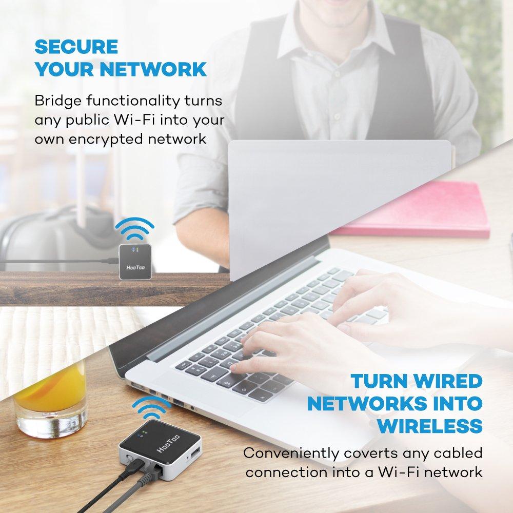 HooToo® TripMate Nano Router inalámbrico (con USB Media Storage ...