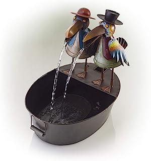 نافورة مياه معدنية كرو من ألبين كوربوريشن - نافورة مياه خارجية للحديقة، الفناء، سطح السفينة، الشرفة - ديكور فني يارد