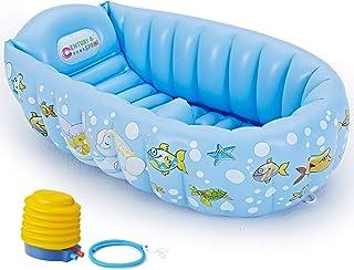 PARENTSWELL ベビーバス 赤ちゃんお風呂 ベビーバスタブ 空気入れポンプ付き 対象年齢0ヶ月~36ヶ月