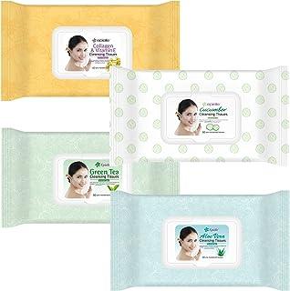 Kareway Epielle Argan Oil Makeup Remover Cleansing Towelettes, 60 Counts (Pack of 4)