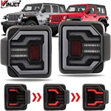 Renegade Series by Winjet [2018+ Jeep Wrangler JL] DRL LED Sequential Tail Lights (Smoke)