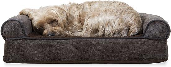 Furhaven Pet - Plush Orthopedic Sofa, Ergonomic Contour Mattress, Self-Warming Hi Lo Cuddler, Calming Anti-Anxiety Hooded ...
