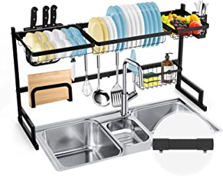 """SOLEDI Over Sink Dish Rack(32``≤ Sink Size ≤ 39""""), Stainless Steel Dish Rack Over The Sink Sturdy and Durable, Maximize Ki..."""