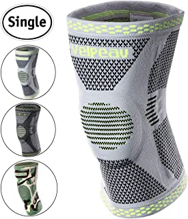 Velpeau Knee Brace - Best Knee Support with Patella Gel Pads & Side Stabilizers - Compressive Stabilized Sleeve of The Knee, Provides Relief of Pain, Weak, Swollen & Injured Knees - Gray, Medium