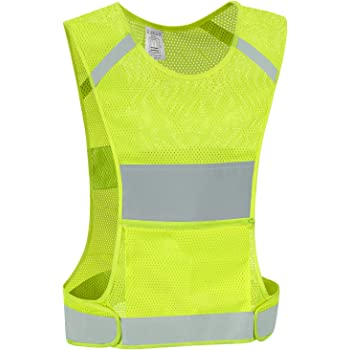 SpeedPark Bike Cycling Reflective Adjustable Safety Vest Fluorescent Orang