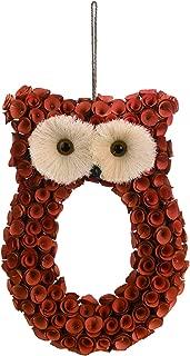 burlap owl wreath