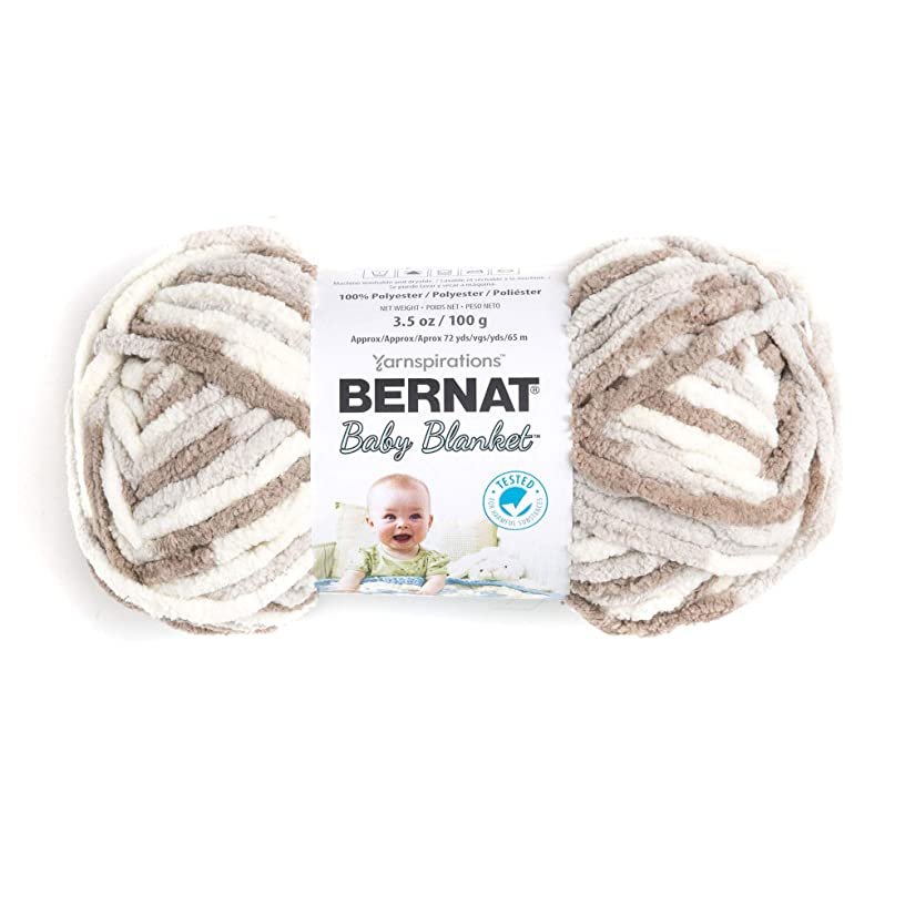 Bernat Baby Blanket Yarn, 3.5 oz, Gauge 6 Super Bulky, Little Sand Castles