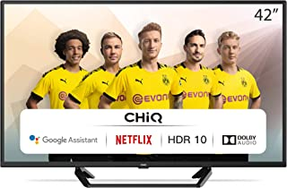 CHiQ-42(105cm) inch Smalle rand Android TV-Smart TV/Android 9.0-Google Assistant/Voice search-2K FHD(1920 * 1080)-HDR10-Do...