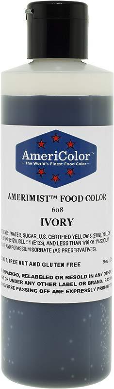 AmeriColor Amerimist AirBrush Food Color Ivory 9 Oz