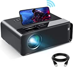 Mini Projector for iPhone, ELEPHAS 2020 WiFi Movie Projector with Synchronize Smartphone Screen, 1080P HD Portable Project...