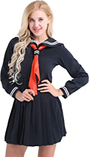 0e92042729 Agoky Womens' Sexy Schoolgirl Lingerie Set Japanese Anime Role Play Costume  Sailor School Uniform Outfit