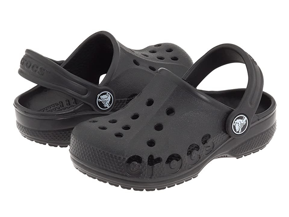 Crocs Kids Baya (Toddler/Little Kid) (Black) Kids Shoes